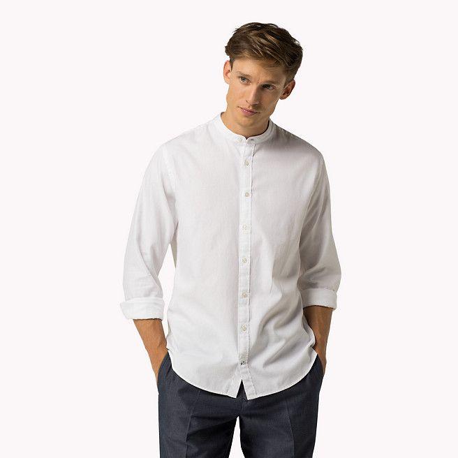 Camicia slim in cotone a ratiera di 99,90 euro Tommy Hilfiger - classic white (White) - camicie casual di Tommy Hilfiger - immagine dettaglio 1
