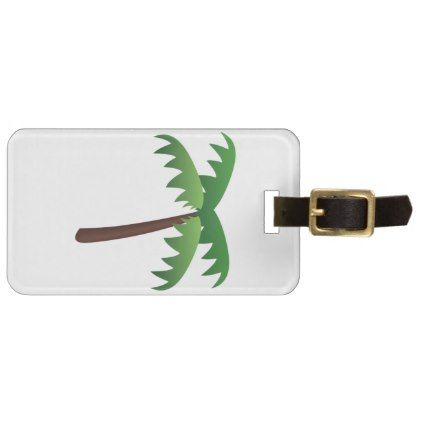 #Palm Tree - Emoji Bag Tag - #luggage #tags