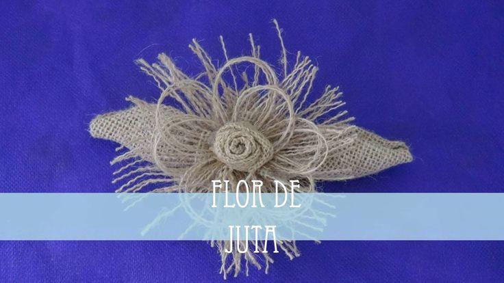 Veja no passo a passo da flor feita com juta (ou estopa), o tecido rústico usado em tapetes e sacos.