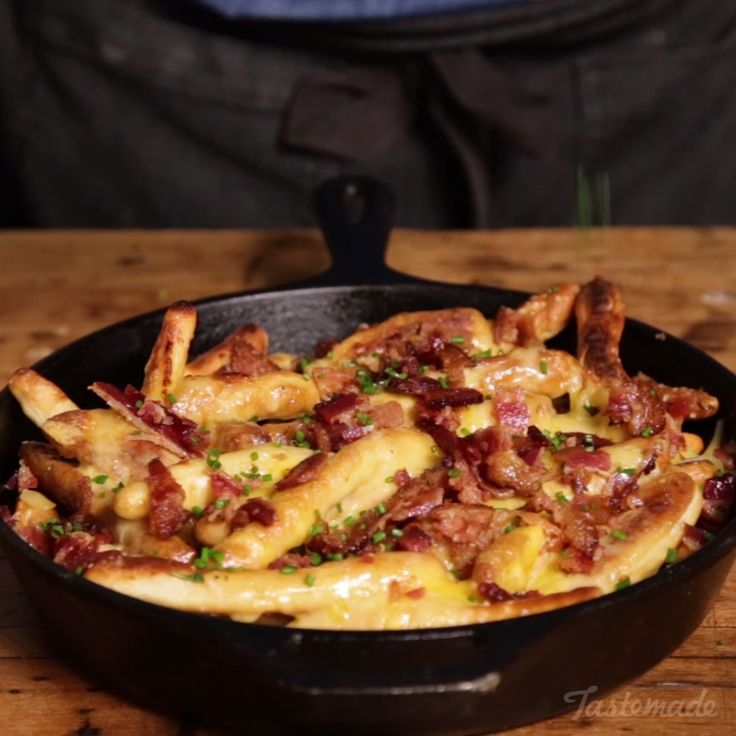 Crispy pretzel sticks topped with cheesy, bacon-y goodness will be your new favorite comfort food. Save the recipe on our app! http://link.tastemade.com/HE7m/H1wHe4m2mA