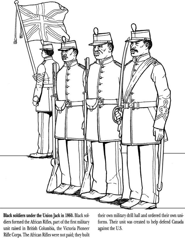civil war solders coloring pages - photo#14