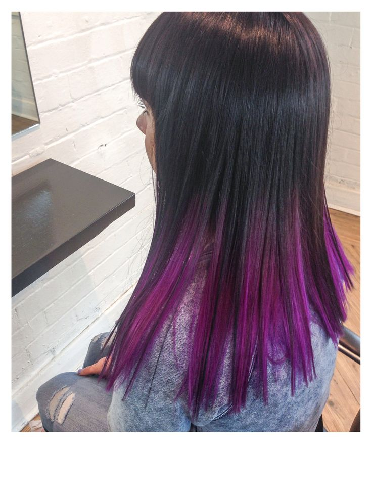 Purple coloured hair
