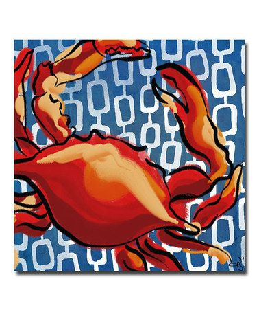 Take a look at this Blue Crab Canvas by Working Girls Design on #zulily today!