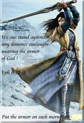 """Put the """"Armor of God"""" on and Keep It On!  Because Satan the Devil does not Sleep!!                     1 Peter 5:8-10                     Job 1:7                    Revelation 12:12-17"""