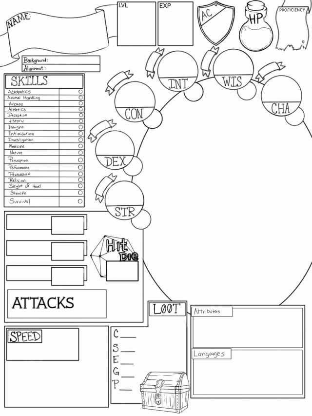 I Designed A D D 5e Character Sheet Today It Has A Blank Space To