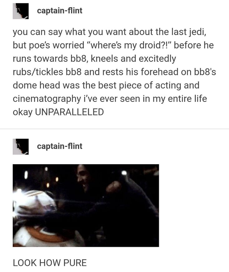 Poe scratches BB8 like a puppy and that's just the most precious thing ever.