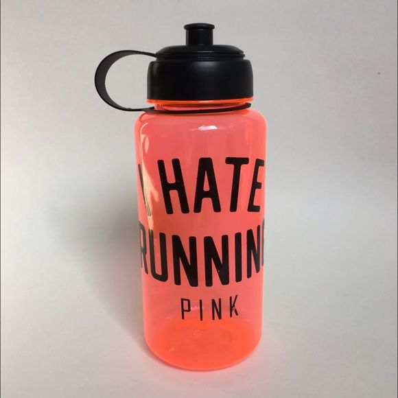 PINK Victoria's Secret I Hate Running Water Bottle PINK Victoria's Secret I Hate Running Water Bottle  Never used. I've had it stored forever. It has some scratches that were there when I bought it. Otherwise great condition And super fun for the gym!  PINK Victoria's Secret Other