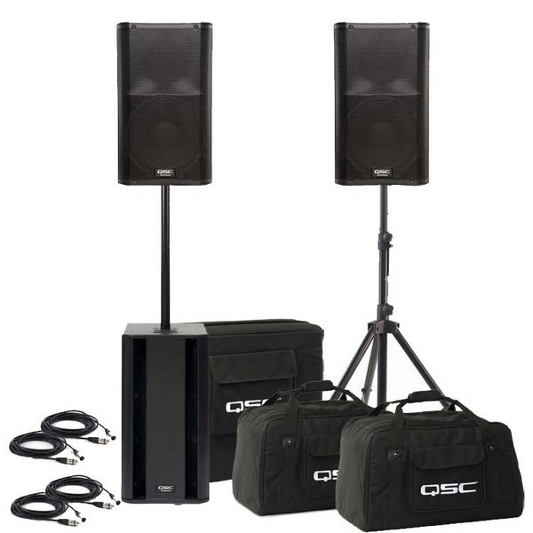 My next setup is the QSC K-Series.