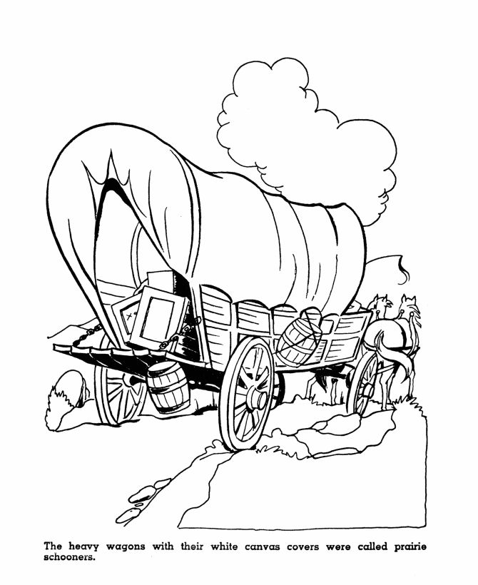 early settlers coloring pages - photo#40