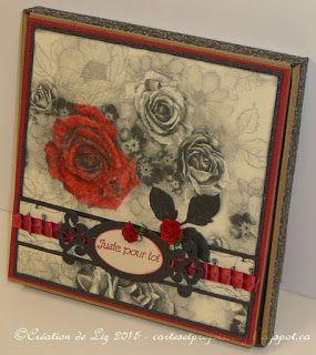 Cartes artisanales et autres projets artistiques de Liz: Une boîte à surprise et une Boitatou