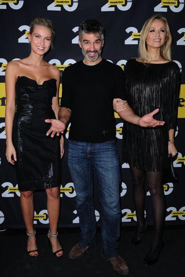 Adriana Cernanova, François Vincentelli et Adriana Karembeu