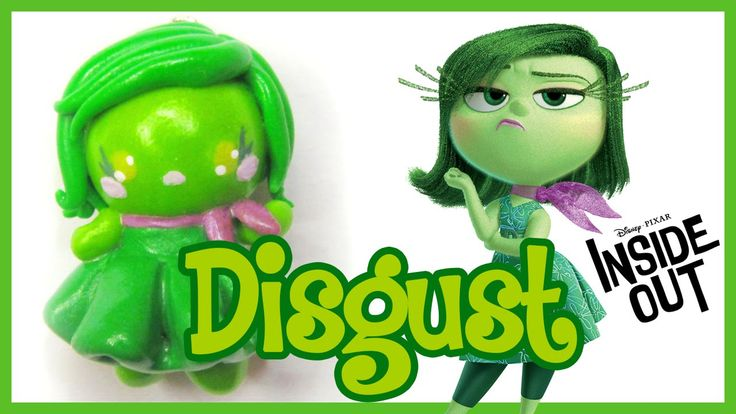 Inside out polymer clay disgust kawaii tutorial