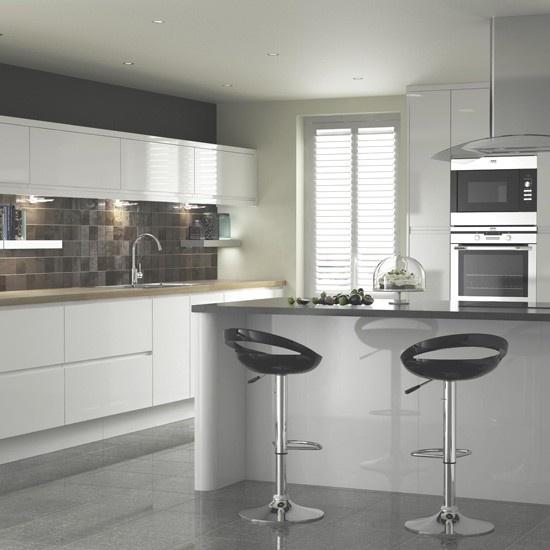 High Gloss Cream kitchen at B | Ten beautiful kitchens from B | housetohome.co.uk | Mobile