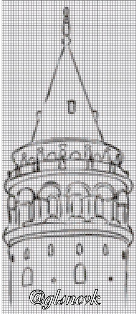 Cross stitch Galata Tower İstanbul