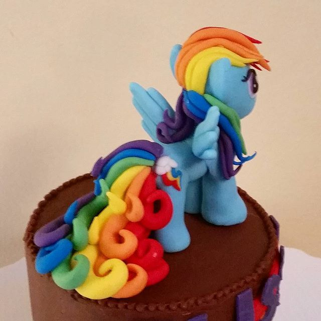 Our My Little Pony cake topper.  Go Rainbow Dash!