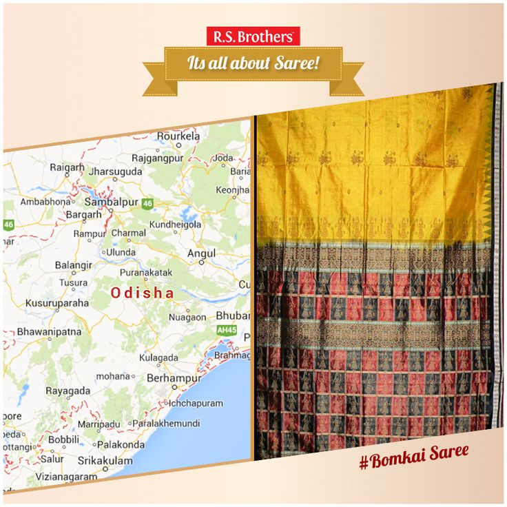 Bomkai saree is also known as Sonepuri saree, which hails from the western part of Odisha. The Bomkai saree is available in cotton, and silk fabrics. These sarees are popular amongst the fashion designers and have a wide acceptance and conventionally has got its name from the Bomkai village in the 1980`s. Exclusive #BomkaiSarees are Available with Various #Design's @R.S. Brothers.  (Image copyrights belong to their respective owners)