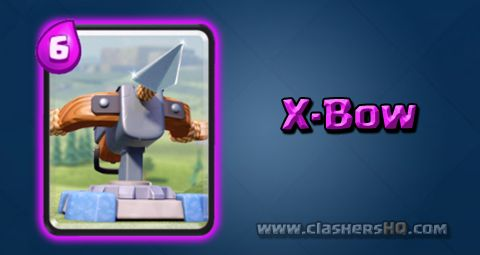 Find all about the Clash Royale X-Bow Card. How to get X-Bow & attack/counter X-Bow effectively.