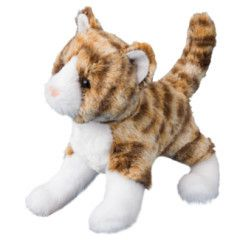 "Douglas Sadie Tiger Stripe Cat 8"" Plush"