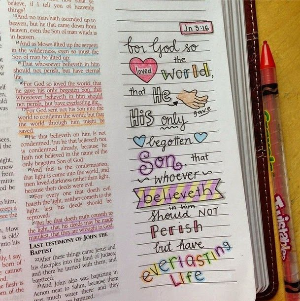 Susyan Crafts Journaling Bible For God So Loved The