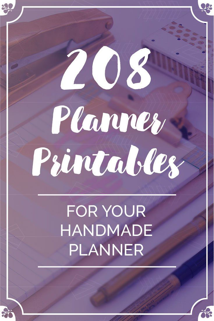 After one full year of free planner #printables, I share with you each and every month I decided to take it one step further and create a fantastic bundle for YOU. This huge bundle includes 208 Planner Printables to help you make 2018 your year! #personalplanner #bulletjournal