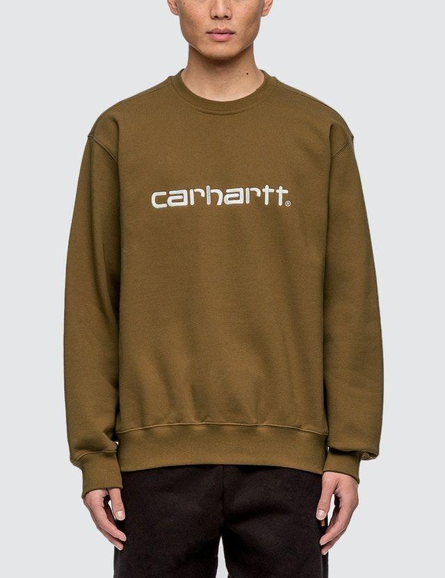 Shop Carhartt Work In Progress Carhartt Sweatshirt (Hamilton Brown) for Men at HBX Now. Free Shipping available.