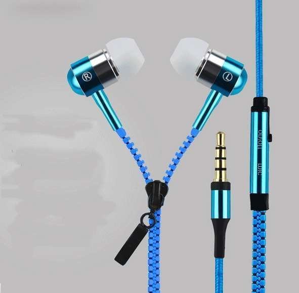 Zipper Bass Headphones With Microphone 3.5mm Jack for Mobile Phones and Tablet : Frequency Response Range: 20-2000Hz     Function: For Mobile Phone,.