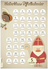Sinterklaas Aftelkalender, je krijgt hem per mail als pdf