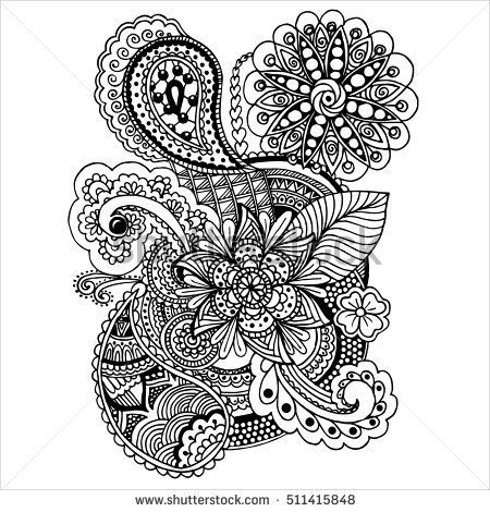 Page For Coloring Book Very Interesting And Relaxing Job Children Adults Hand