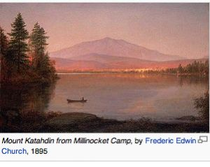 Mt. Katahdin by Frederic Edwin Church, 1895