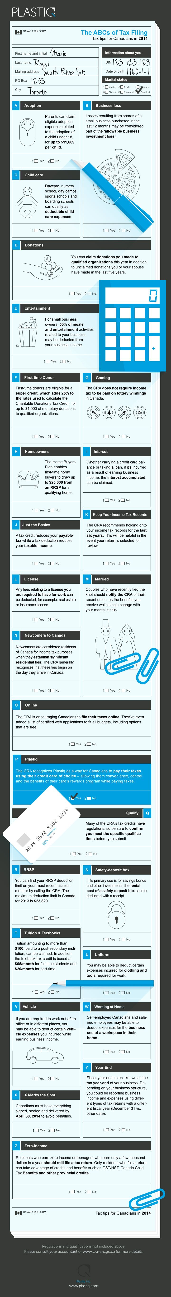 Canadian Taxes in a single infographic