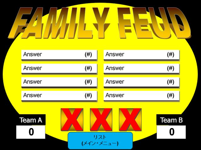 Make Your Own Family Feud Game with These Free Templates: One Round