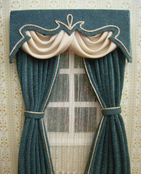 Miniature 112 Dollhouse curtains on order by TanyaShevtsova
