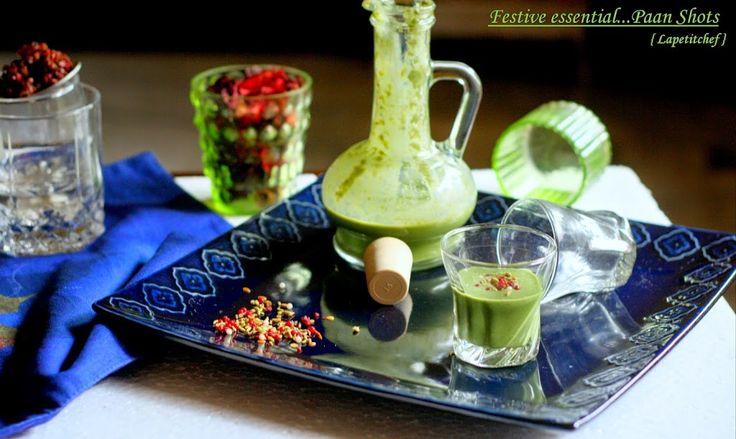 Perfect digestif ..paan shots made a la` Punjab Grill!!!!