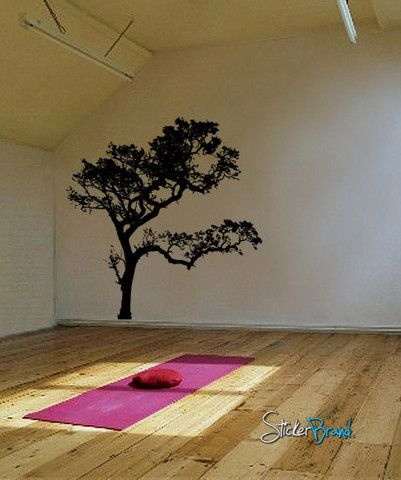 Vinyl Wall Decal Sticker Big Oak Tree #409 | Stickerbrand wall art decals, wall graphics and wall murals.