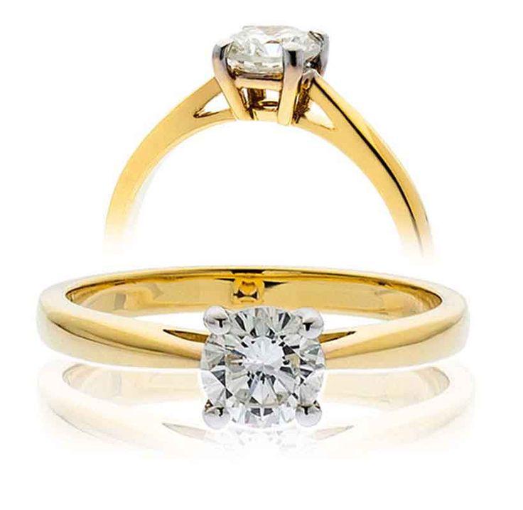 Diamond Solitaire ringTotal Diamond Weight 0.25 Carat