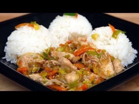 Kuracia čína s mrkvou - videorecept - YouTube