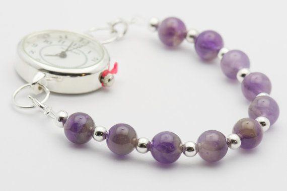 Amethyst Gemstone  Bracelet Watch Band  Interchangeable Band