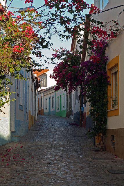 Lovely street in Ferragudo, Algarve Coast, Portugal