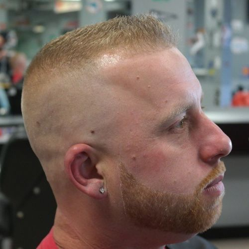 high and tight and facial hairstyle
