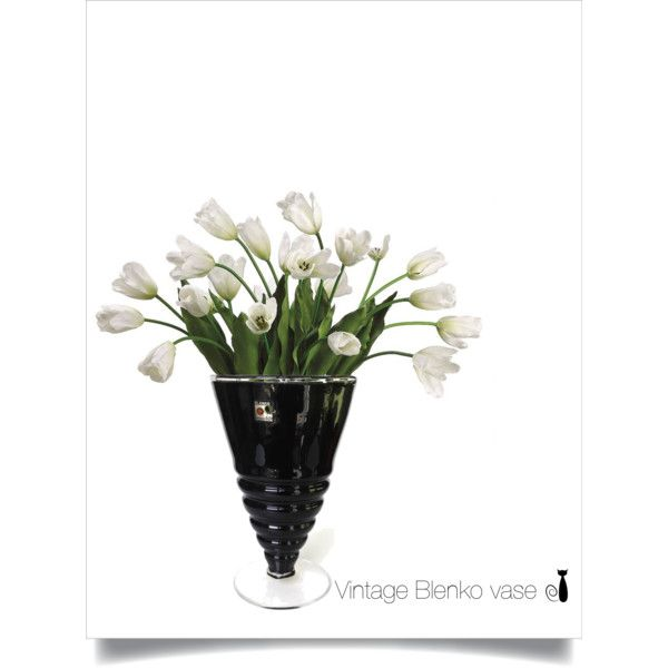 Vintage Blenko Vase by nonamecatvintage on Polyvore featuring interior, interiors, interior design, home, home decor, interior decorating, Allstate Floral and vintage