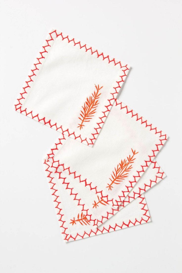 anthos cocktail napkins #anthropologie