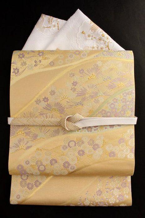 【とみや織物】西陣織袋帯正絹とみや袋帯フォーマル袋帯金地「寿松秀花」