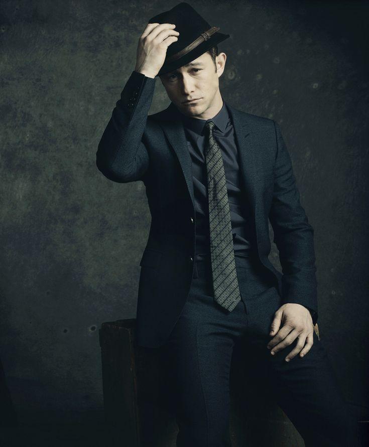 black suit x fedora :: Joseph Gordon-Levitt