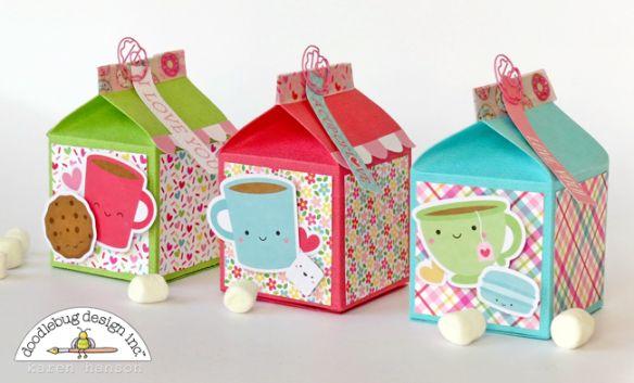 Doodlebug Design Cream & Sugar Collection: Candy Inspiration Carton Gift Boxes by Karen Hanson