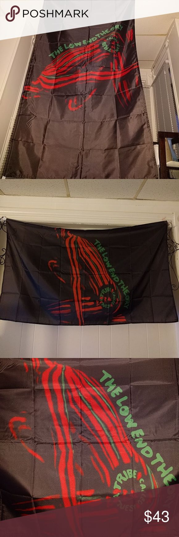 Vintage{Tribe called Quest}Low End Theory/Version2 By request, were selling our last vintage Tribe flag H D clarity. Over 5ft long and 3ft wide Supreme Accessories