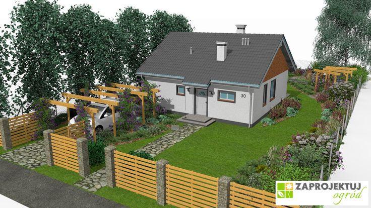 Zosia to dom o prostej klasycznej bryle, nawiązujący do tradycyjnych wiejskich domów. W tym przypadku nasz architekt – Beata Puła - przygotowała projekt ogrodu zachowujący charakter budynku. http://www.zaprojektuj-ogrod.pl/pl/OrderGardenProject/Index