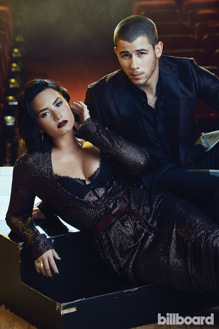 Nick Jonas Demi Lovato Billboard Cover Shoot