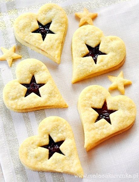 Polish Butter Cookies with Jam