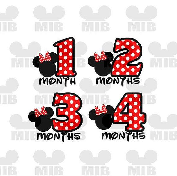 Instant Download Baby S First Year 1 12 Months Minnie