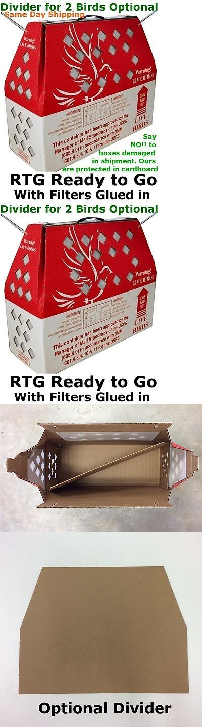 Backyard Poultry Supplies 177801: 3Pcs Horizon Light Rtg Live Bird Poultry Chicken Pheasant Shipping Box W Divider -> BUY IT NOW ONLY: $46.55 on eBay!